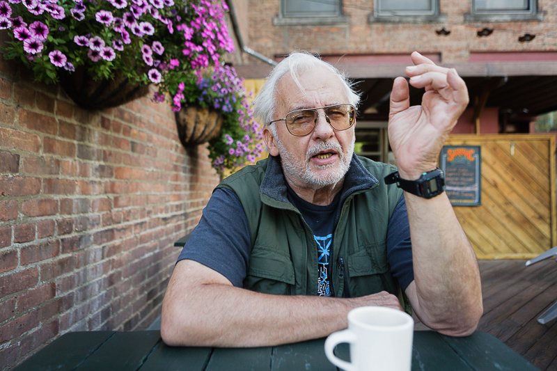 Paul Bley at lunch, Oneonta, New York
